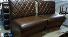 Обивка диванов кожзамом