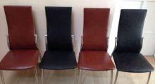 Перетяжка стульев кожей